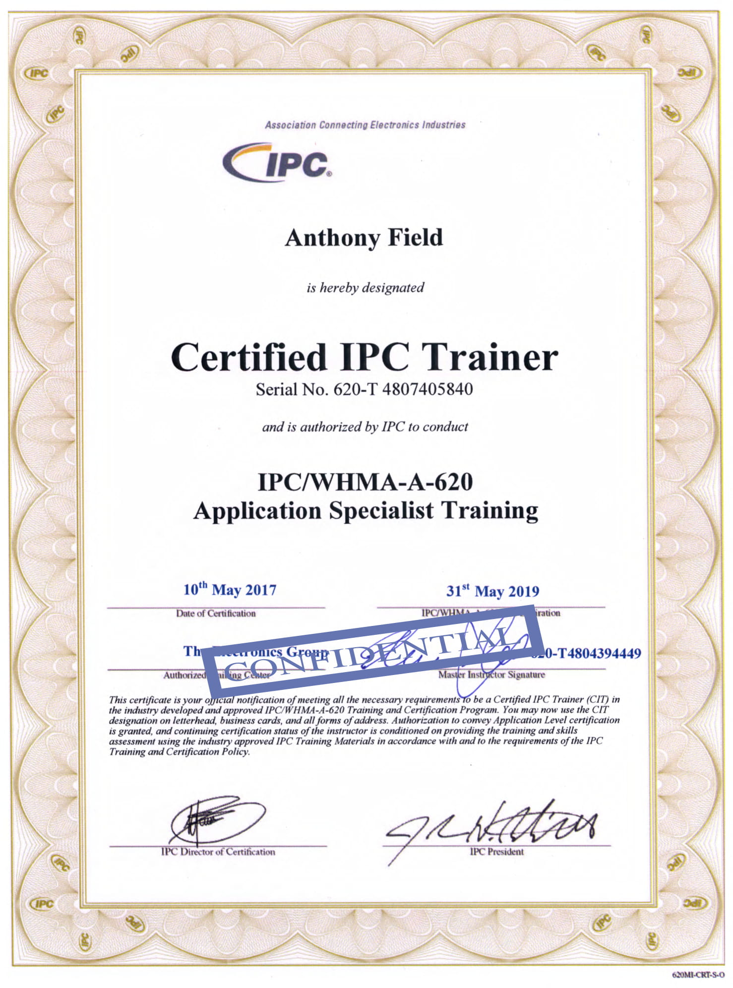 Astounding Ipc Training Specialist Training Ipc Whma A 620 Wiring Digital Resources Remcakbiperorg